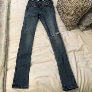 Abercrombie + Fitch Ripped Knee Jeans